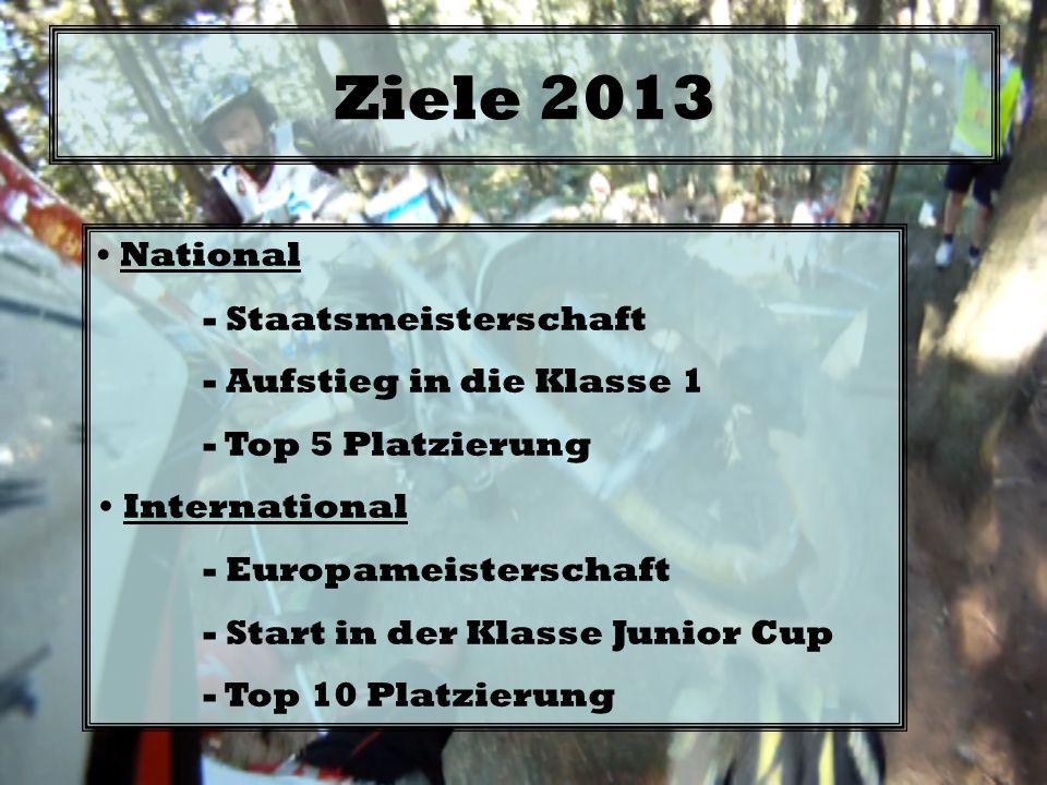 Ziele 2013 National - Staatsmeisterschaft - Aufstieg in die Klasse 1