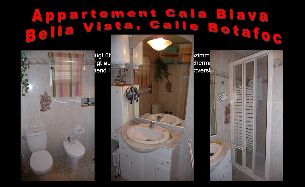 Appartement Cala Blava Bella Vista, Calle Botafoc