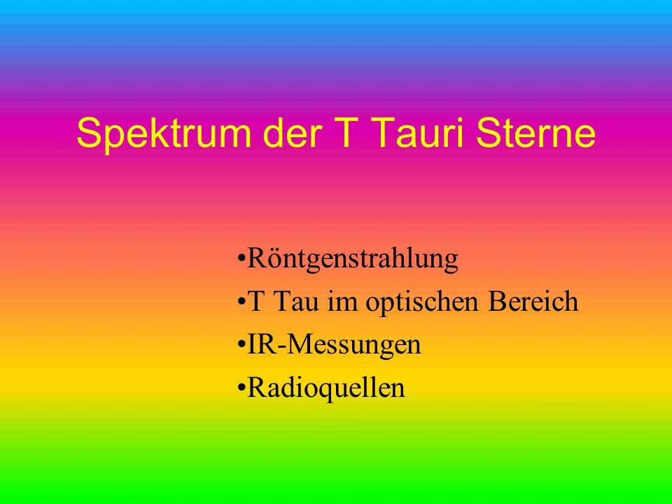 Spektrum der T Tauri Sterne