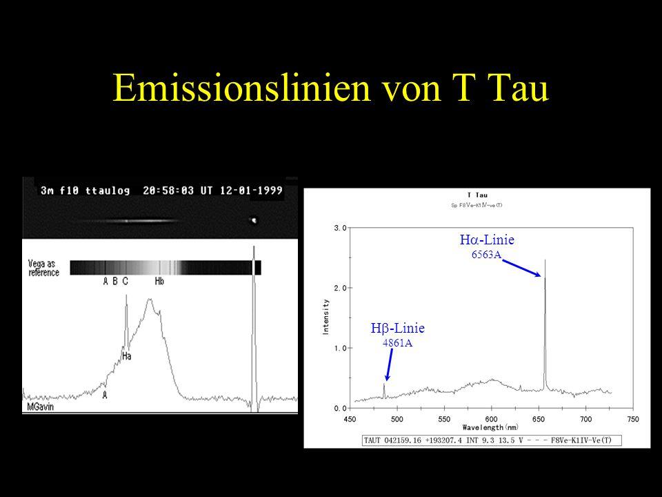 Emissionslinien von T Tau