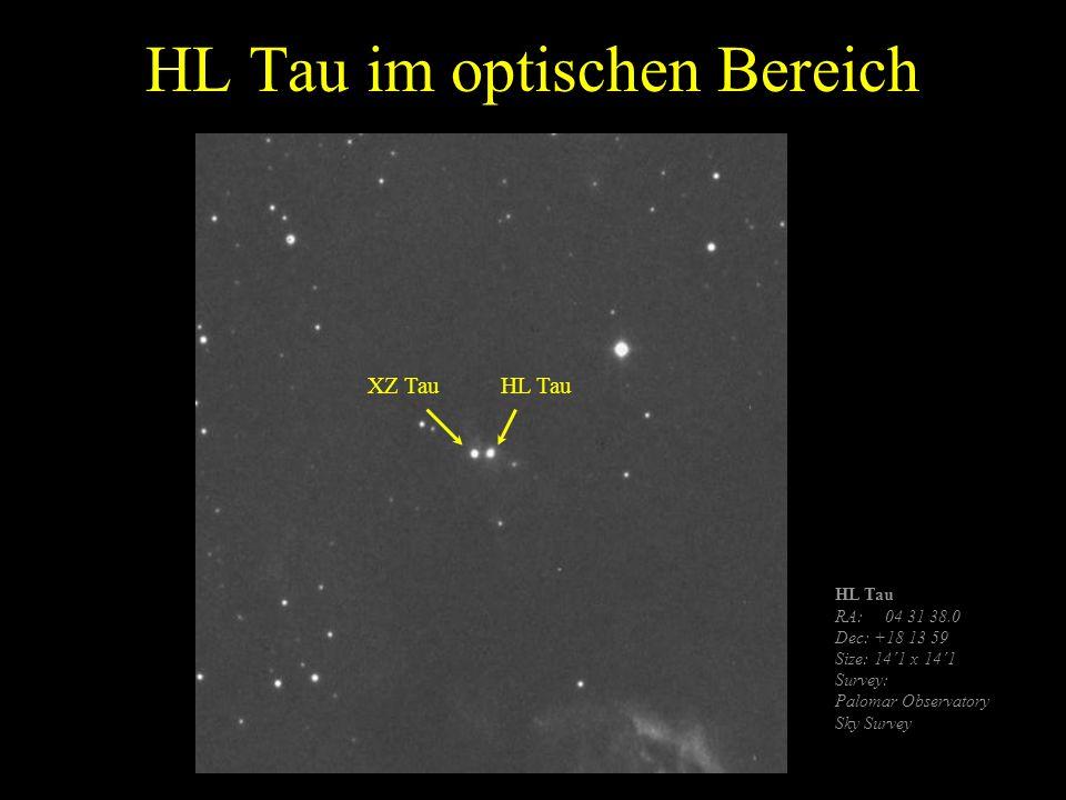 HL Tau im optischen Bereich