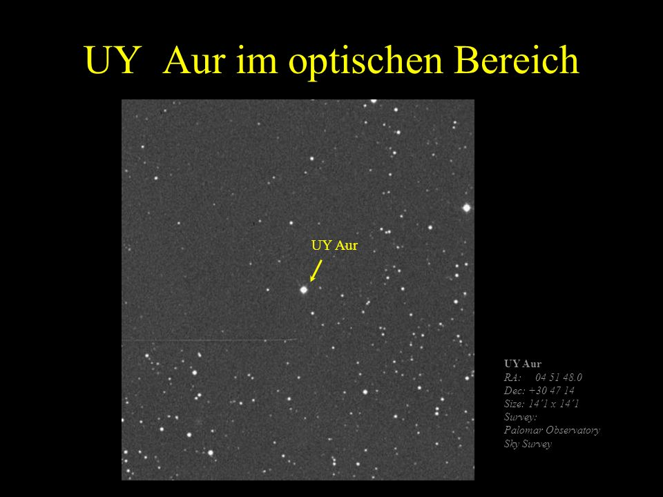 UY Aur im optischen Bereich