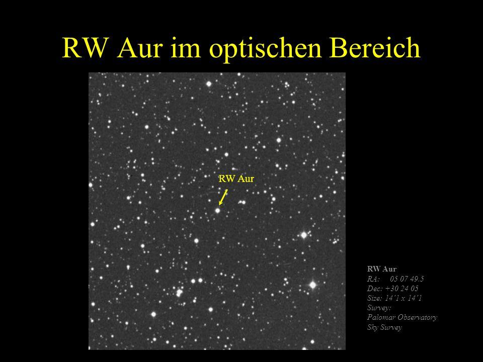 RW Aur im optischen Bereich
