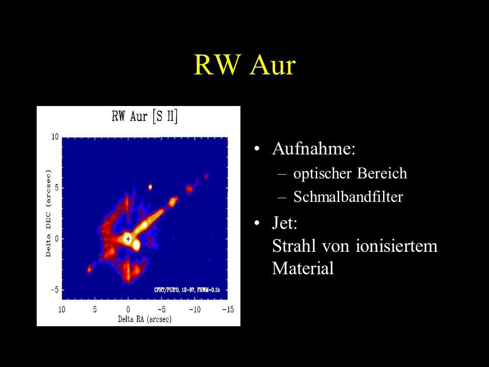 RW Aur Aufnahme: Jet: Strahl von ionisiertem Material