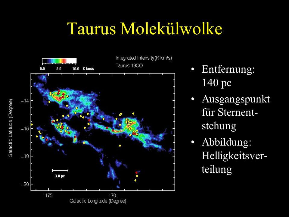Taurus Molekülwolke Entfernung: 140 pc