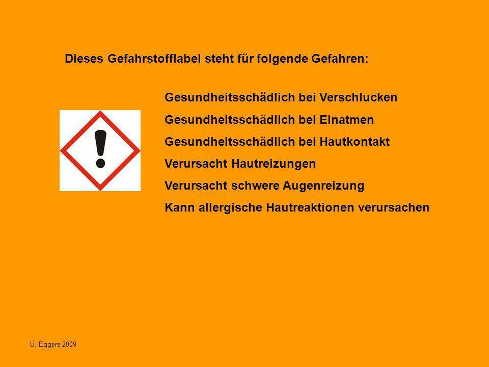 Dieses Gefahrstofflabel steht für folgende Gefahren: