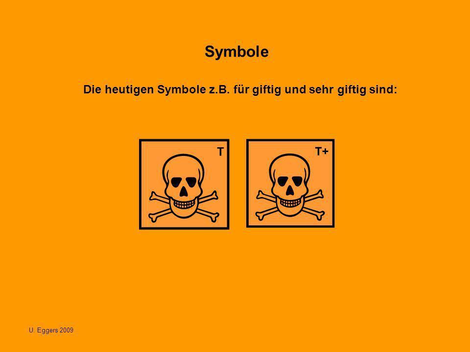 Die heutigen Symbole z.B. für giftig und sehr giftig sind: