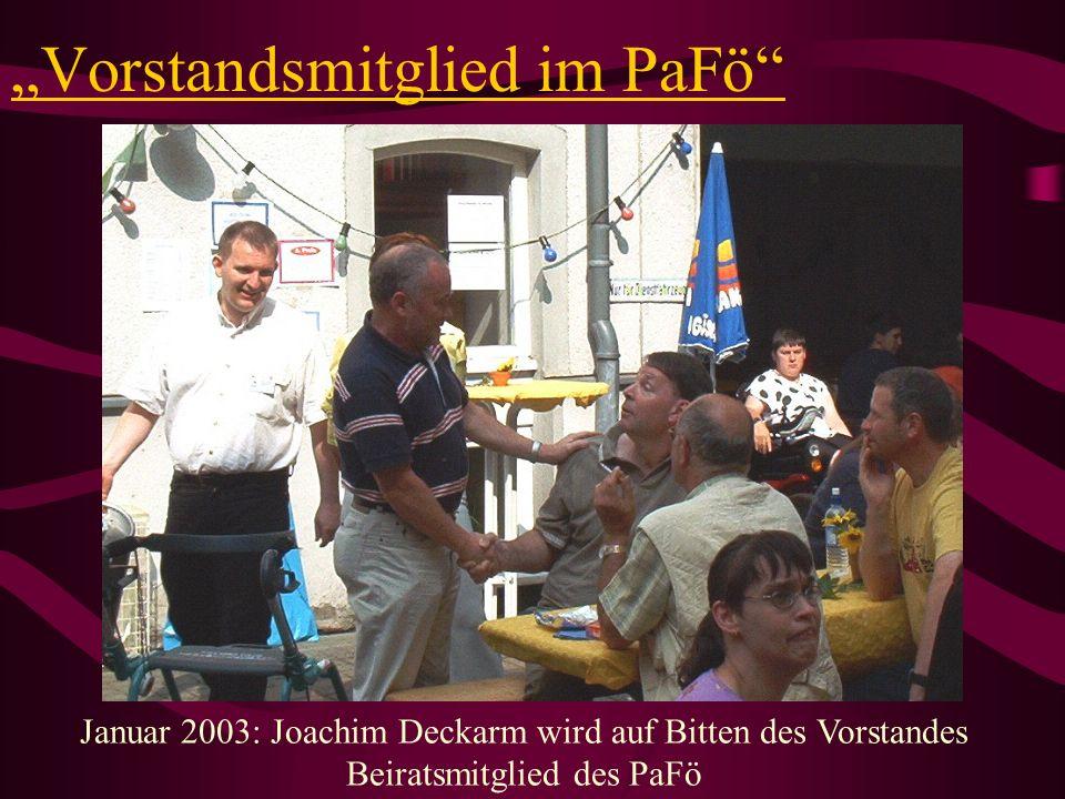 """""""Vorstandsmitglied im PaFö"""