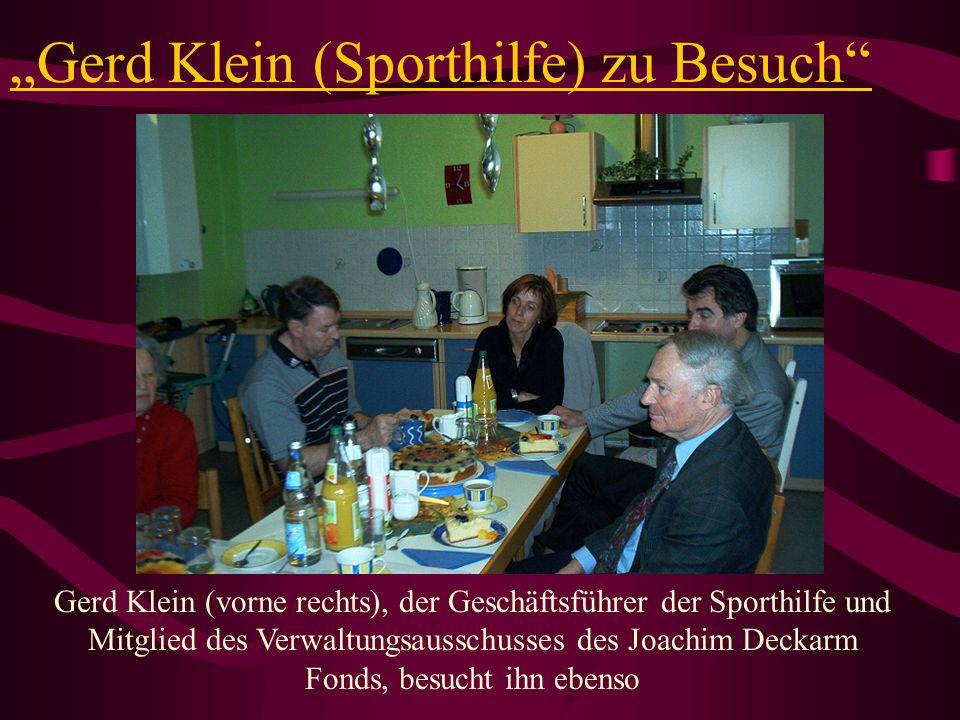 """""""Gerd Klein (Sporthilfe) zu Besuch"""