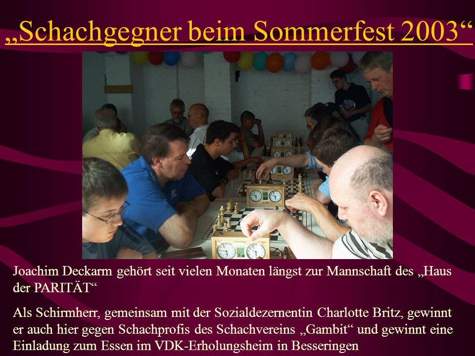 """""""Schachgegner beim Sommerfest 2003"""