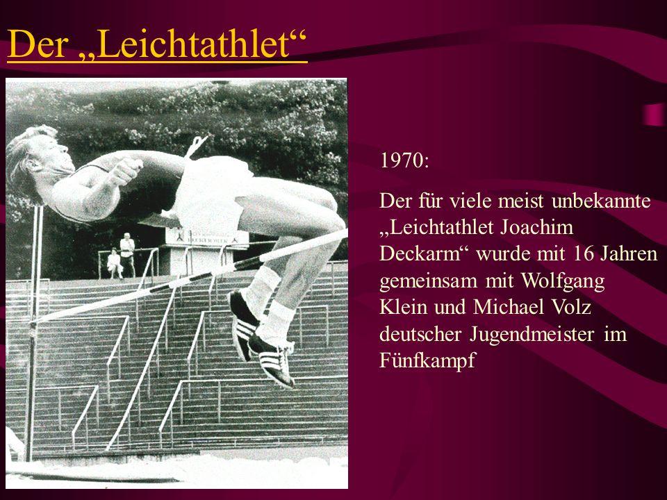 """Der """"Leichtathlet 1970:"""