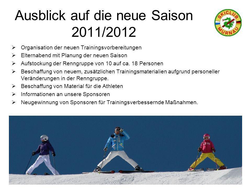 Ausblick auf die neue Saison 2011/2012