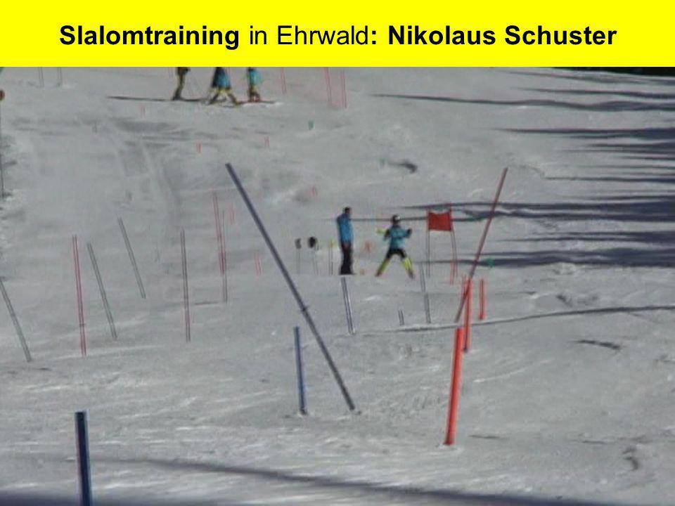 Slalomtraining in Ehrwald: Nikolaus Schuster