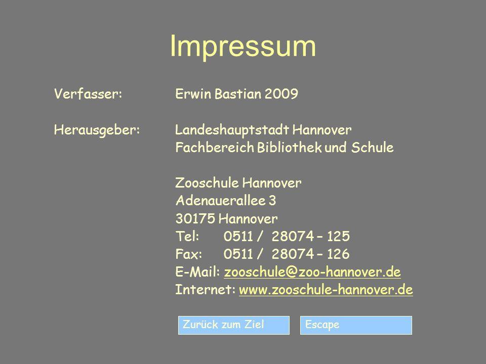 Impressum Verfasser: Erwin Bastian 2009
