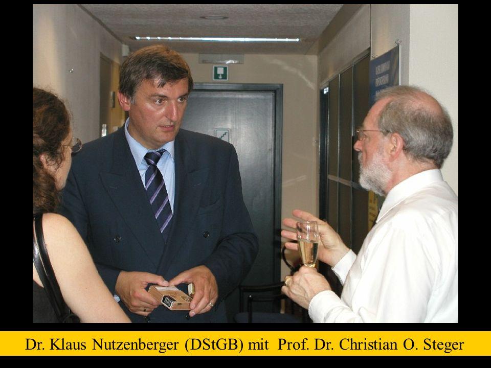 Dr. Klaus Nutzenberger (DStGB) mit Prof. Dr. Christian O. Steger