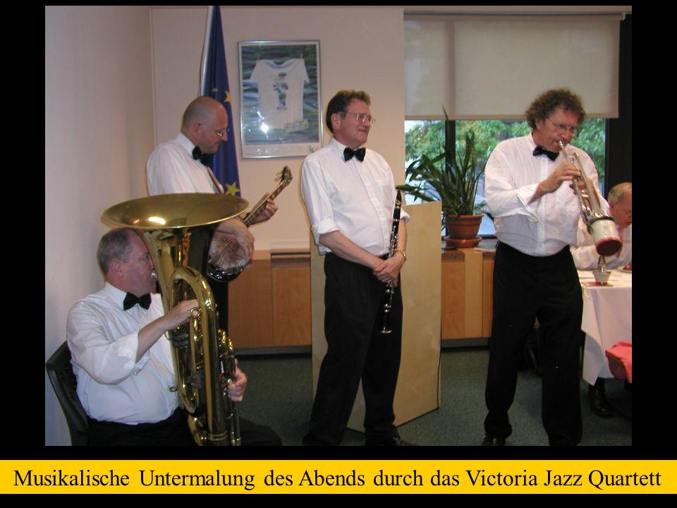 Musikalische Untermalung des Abends durch das Victoria Jazz Quartett