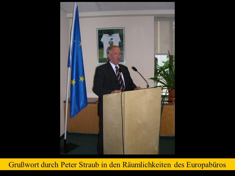 Grußwort durch Peter Straub in den Räumlichkeiten des Europabüros