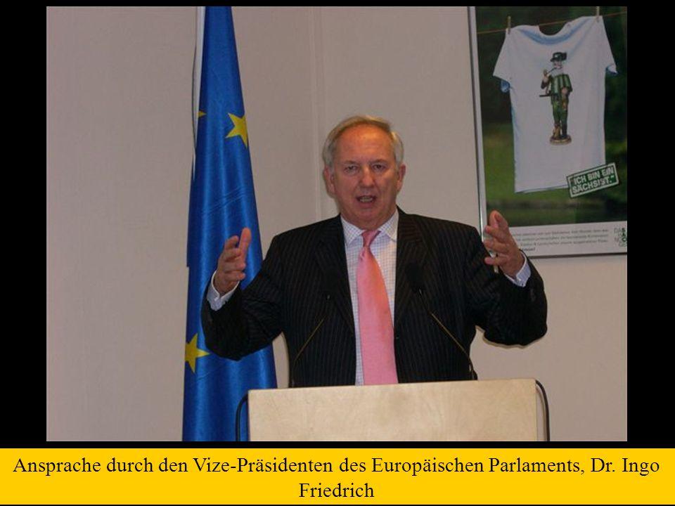 Ansprache durch den Vize-Präsidenten des Europäischen Parlaments, Dr