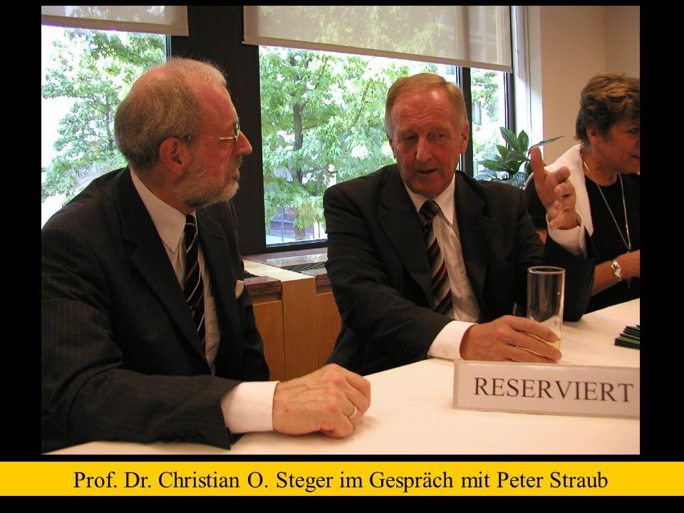 Prof. Dr. Christian O. Steger im Gespräch mit Peter Straub