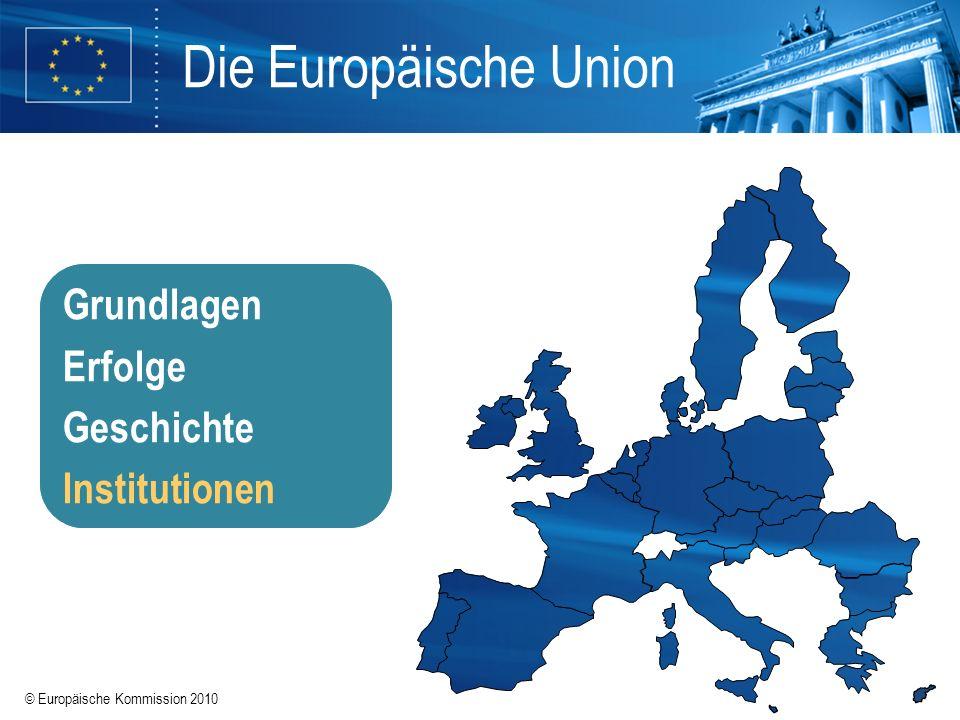 Die Europäische Union Grundlagen Erfolge Geschichte Institutionen