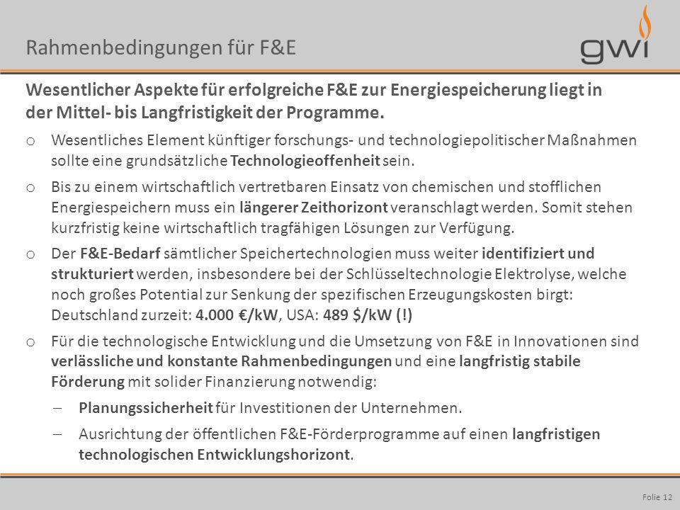 Rahmenbedingungen für F&E
