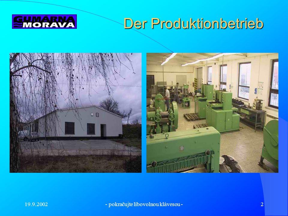 Der Produktionbetrieb