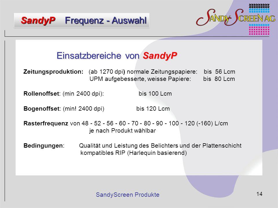 Einsatzbereiche von SandyP