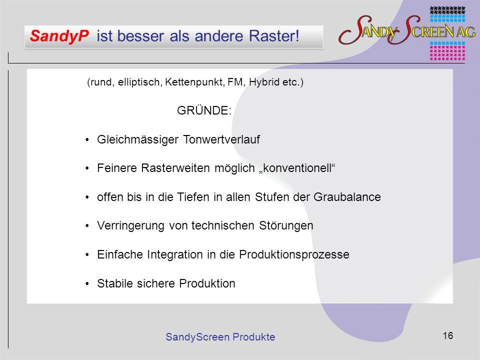 SandyP ist besser als andere Raster!