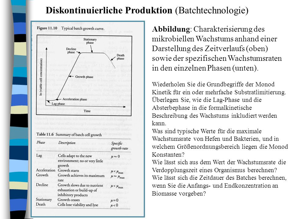 Diskontinuierliche Produktion (Batchtechnologie)