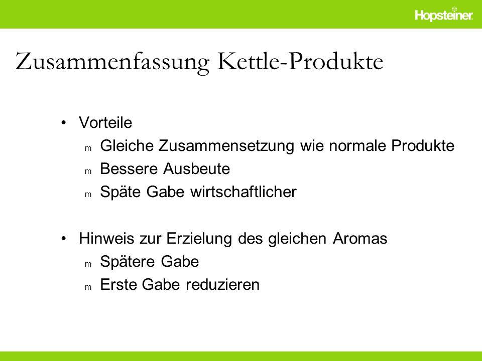 Zusammenfassung Kettle-Produkte
