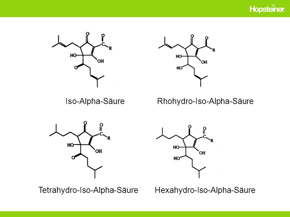 Iso-Alpha-Säure Rhohydro-Iso-Alpha-Säure Tetrahydro-Iso-Alpha-Säure Hexahydro-Iso-Alpha-Säure