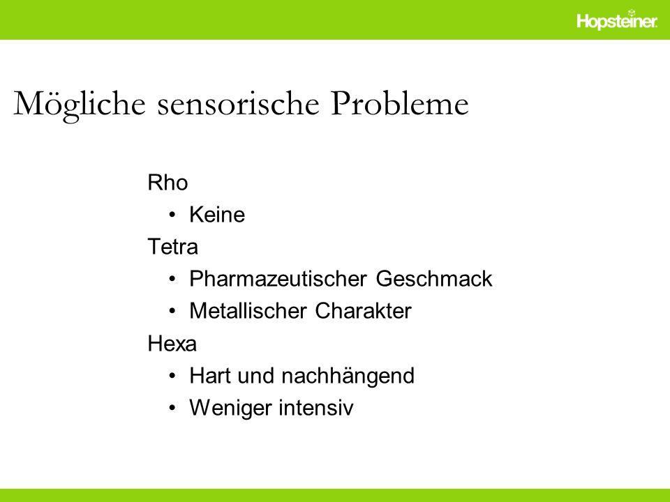 Mögliche sensorische Probleme