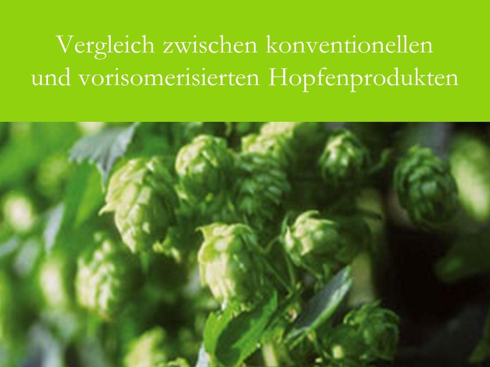 Vergleich zwischen konventionellen und vorisomerisierten Hopfenprodukten