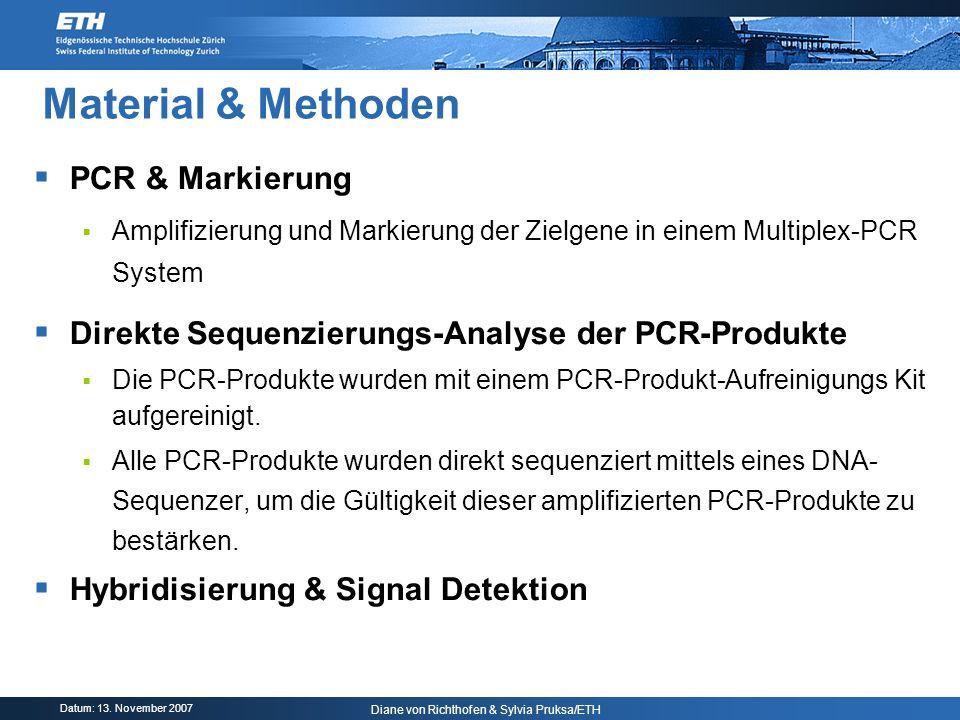 Material & Methoden PCR & Markierung