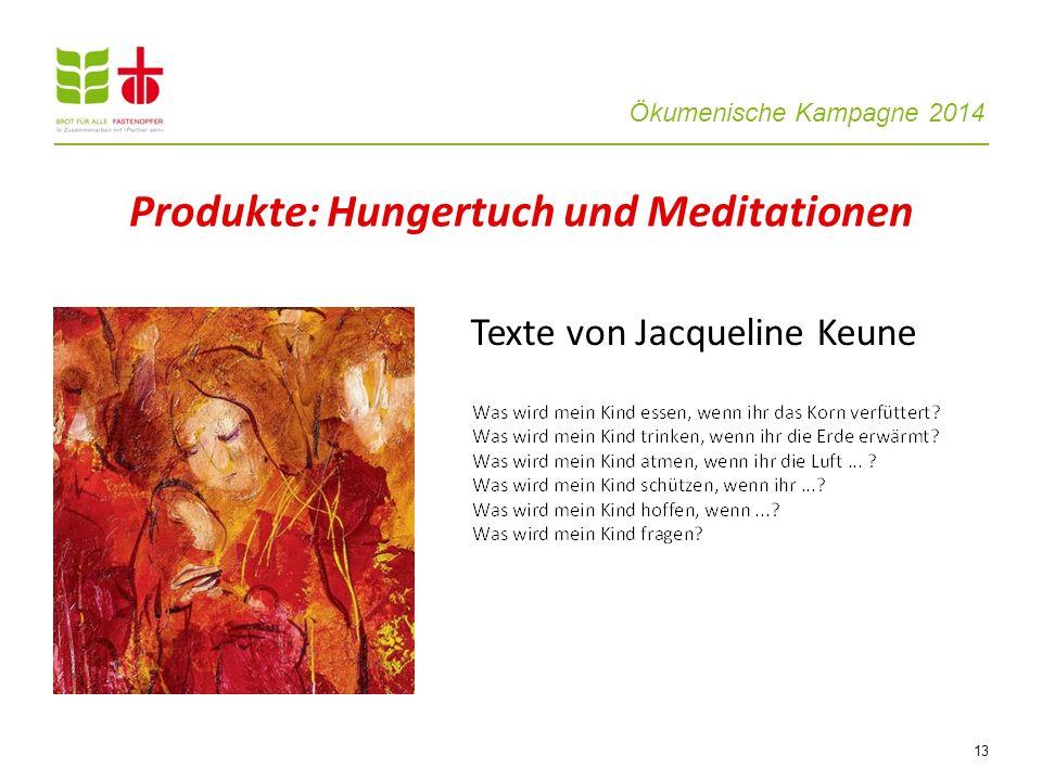 Produkte: Hungertuch und Meditationen