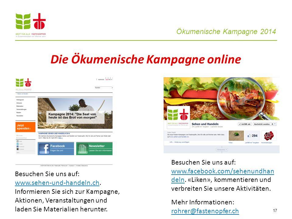 Die Ökumenische Kampagne online