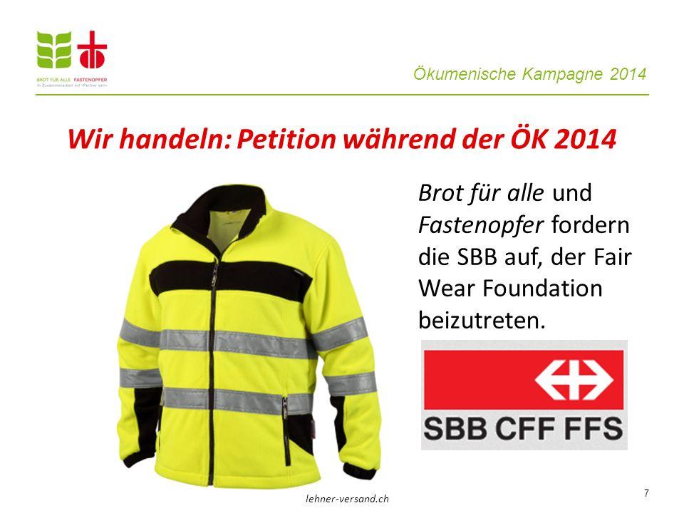 Wir handeln: Petition während der ÖK 2014
