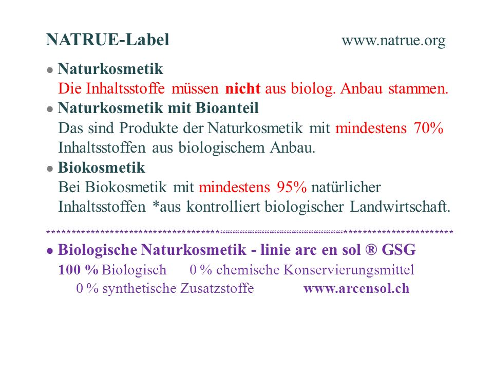 NATRUE-Label www.natrue.org