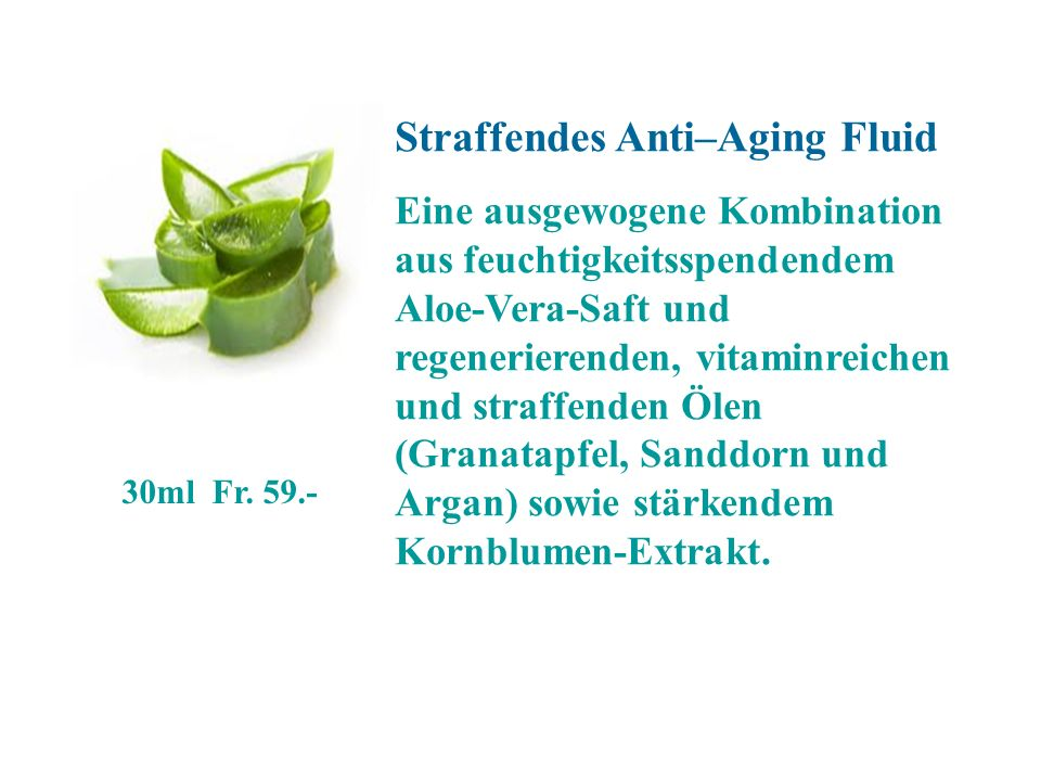Straffendes Anti–Aging Fluid
