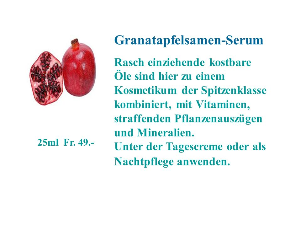 Granatapfelsamen-Serum
