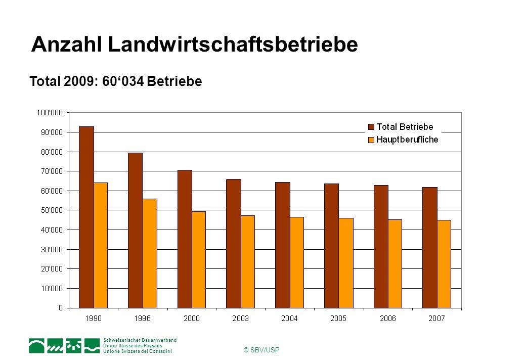 Anzahl Landwirtschaftsbetriebe