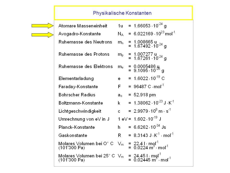 Physikalische Konstanten