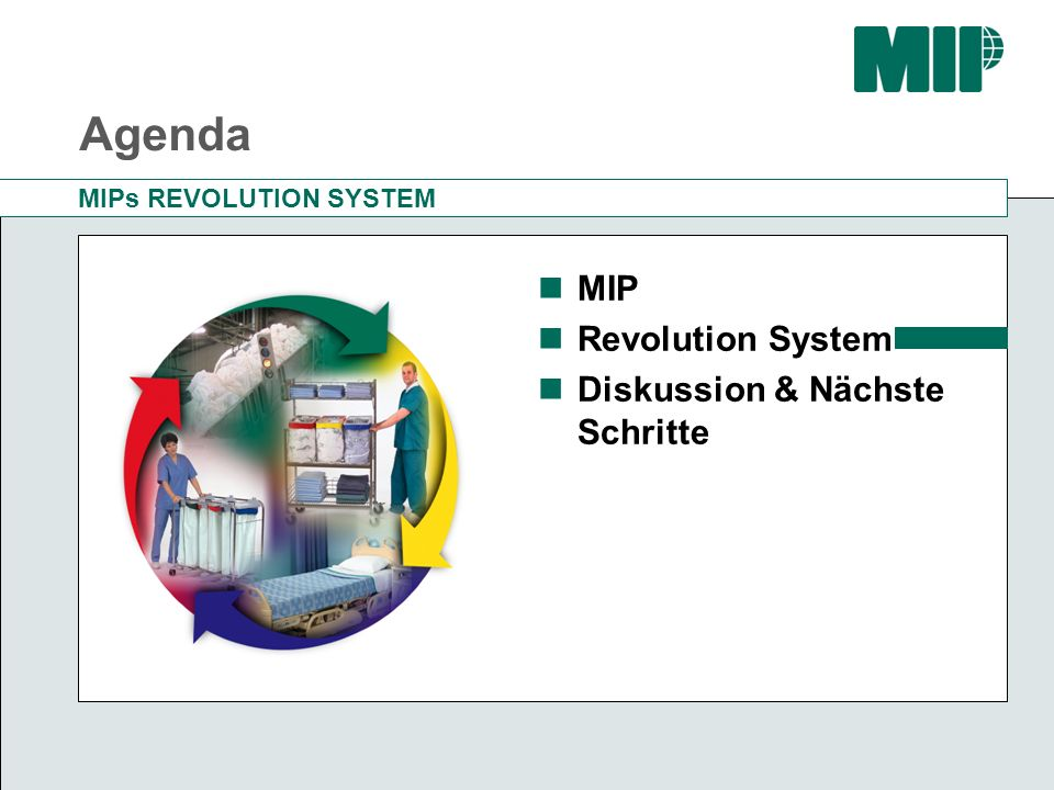 Agenda MIP Revolution System Diskussion & Nächste Schritte
