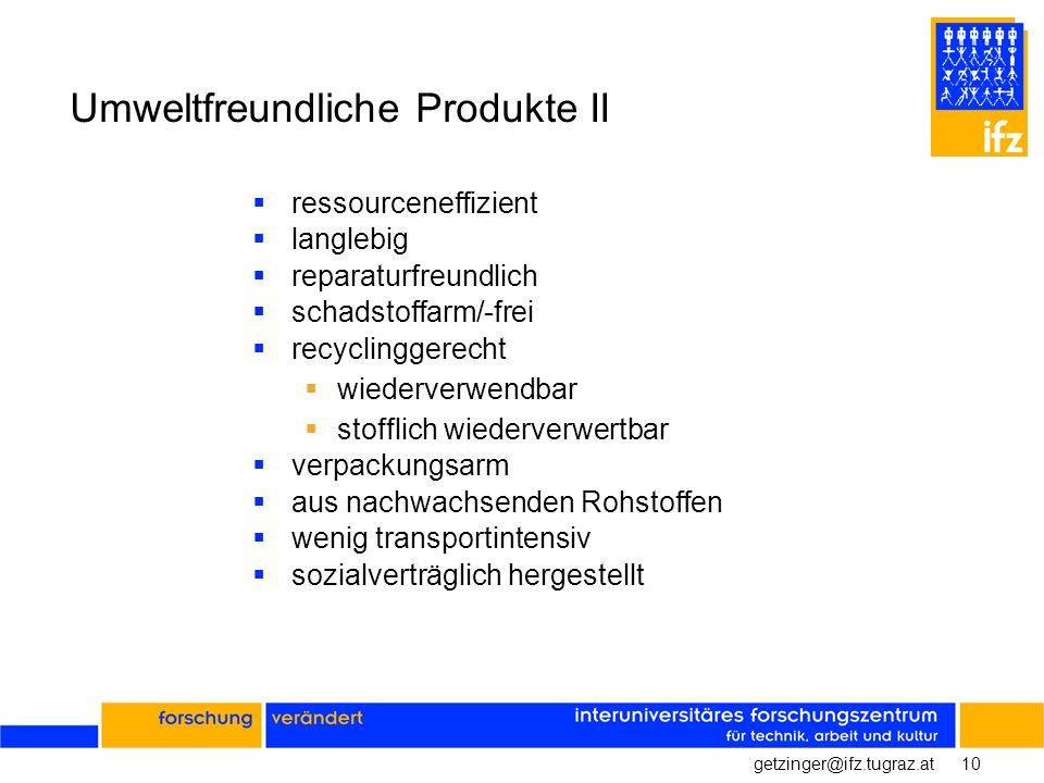 Umweltfreundliche Produkte II