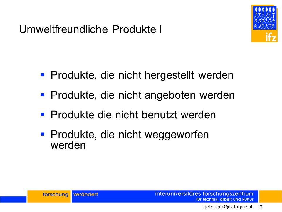 Umweltfreundliche Produkte I