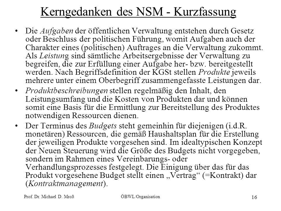 Kerngedanken des NSM - Kurzfassung