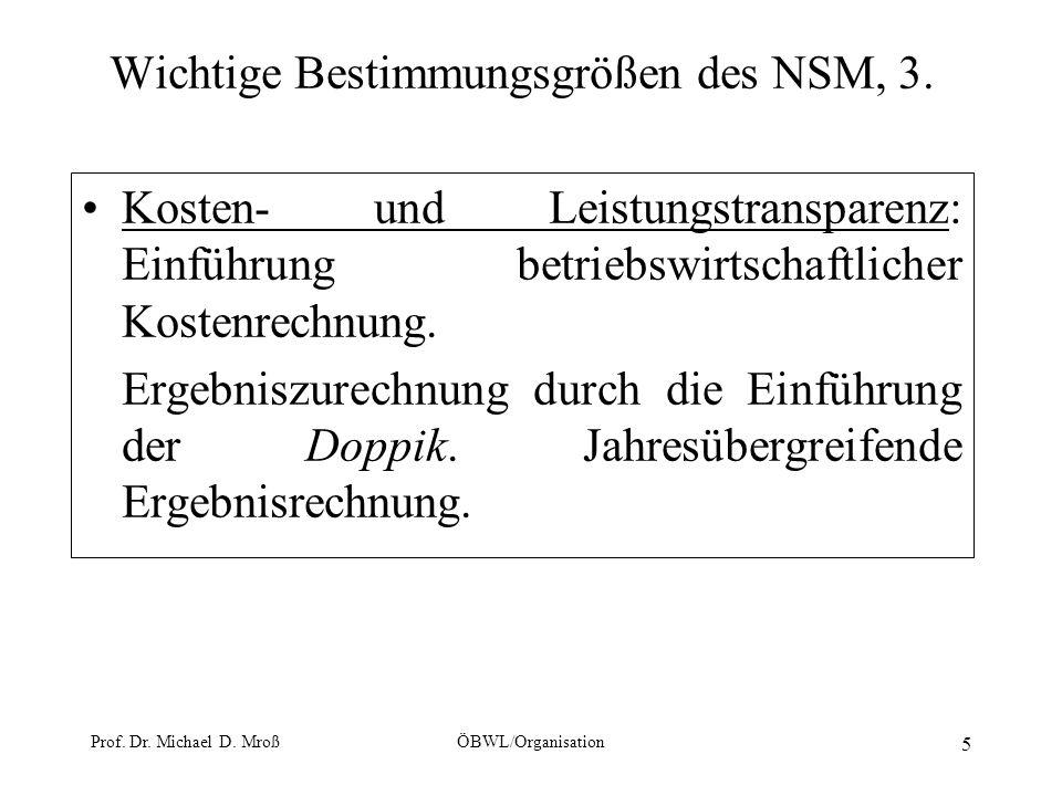 Wichtige Bestimmungsgrößen des NSM, 3.