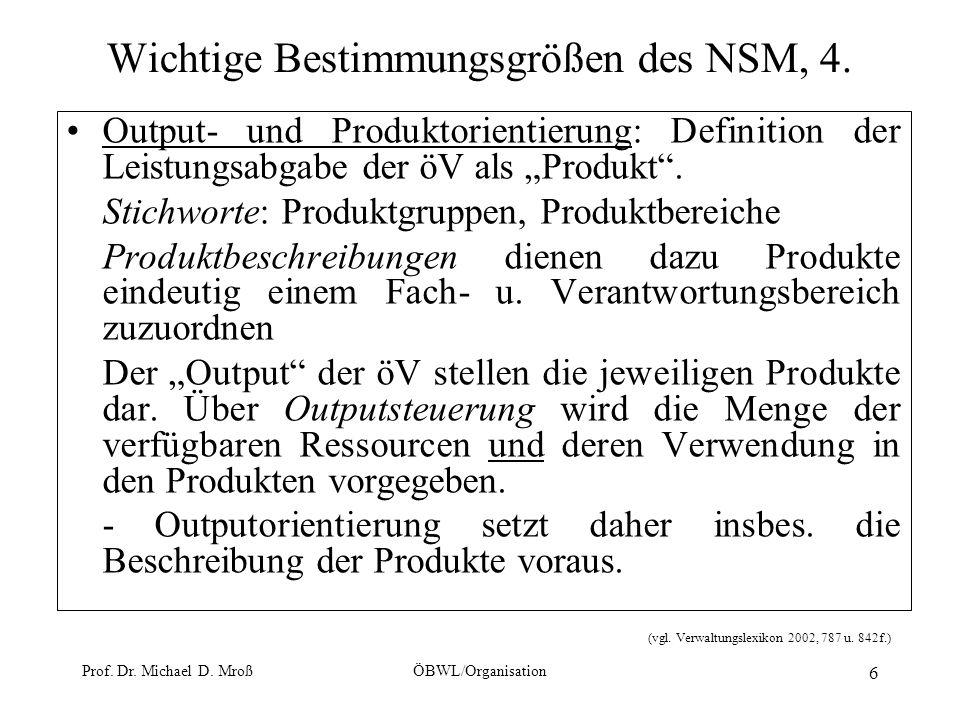 Wichtige Bestimmungsgrößen des NSM, 4.