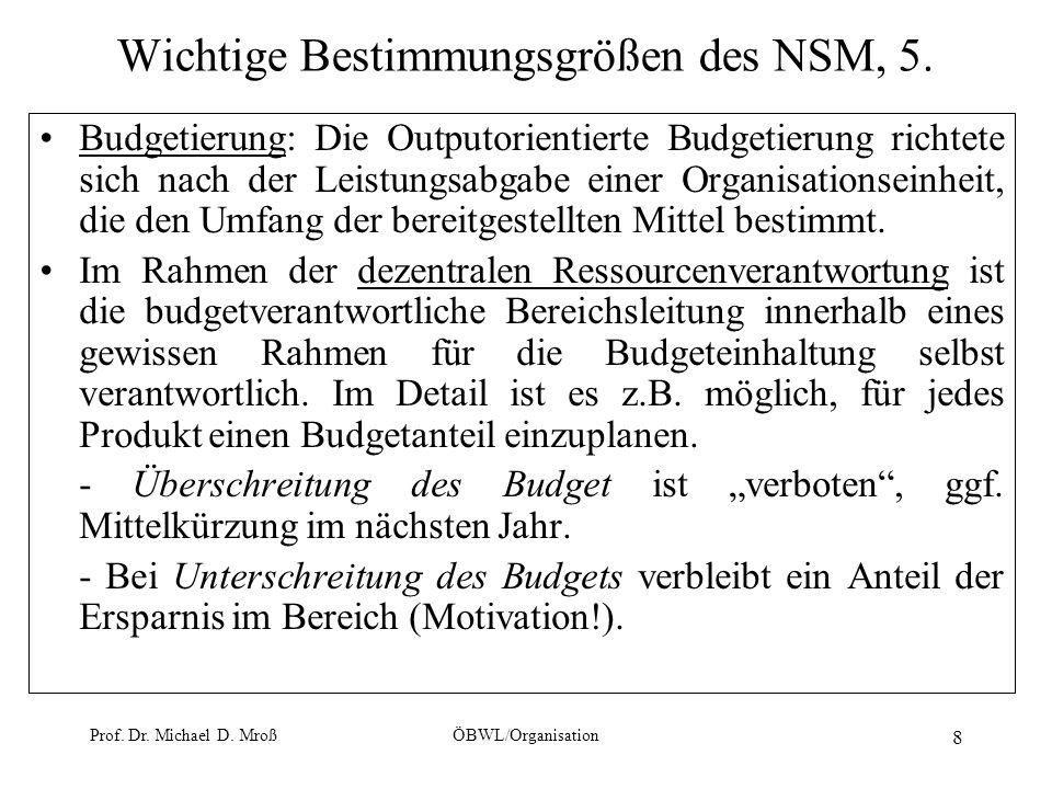 Wichtige Bestimmungsgrößen des NSM, 5.