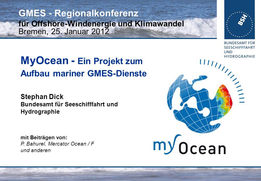 MyOcean - Ein Projekt zum Aufbau mariner GMES-Dienste